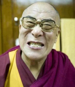 Dalai Lama - His guard is always down